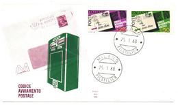 1968 - Italia 1065/66 Codice Avviamento Postale     FDC - Francobolli Su Francobolli