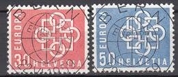 Zwitserland  Europa Cept 1959  Gestempeld - Gebraucht
