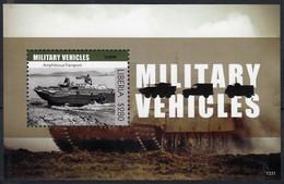 Liberia 2013 MNH MS, Military, War Vehicles, Amphibious Transport - WW1 (I Guerra Mundial)