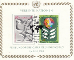 UNITED NATIONS Vienna Block 1,used - Blocks & Kleinbögen