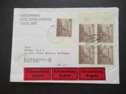 Berlin 1964 Nr.233 (5) MeF 700 Jahre Schöneberg Eilzustellung Expres Nach HH Mit Ank. Stempel Hamburg Flughafen - Briefe U. Dokumente