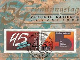 UNITED NATIONS Vienna Block 5,used - Blocks & Kleinbögen