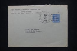 ETATS UNIS - Enveloppe Commerciale ( American Express ) Avec Oblitération Militaire Pour Paris En 1949 - L 108277 - Covers & Documents