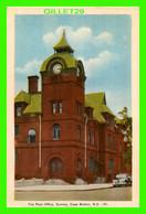 CAPE BRETON, NOVA SCOTIA - THE POST OFFICE, SYDNEY - ANIMATED OLD CAR - TRAVEL IN 1942 - PECO - - Cape Breton