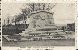 Fisenne (Soy) Monument De L'Abbé Braham (Mort Pour La Patrie, Armée Secrète, Résistant Section Du Lion Belge) Erezée - Waterloo