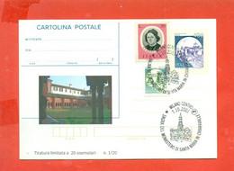 G1-INTERI POSTALI SOPRASTAMPA PRIVATA-CARTOLINE POSTALI-MILANO-CHIARAVALLE - Interi Postali