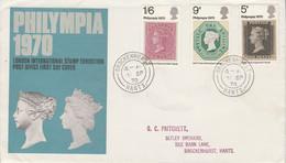 GB LETTRE FDC 1970 PHILYMPIA - 1952-1971 Dezimalausgaben (Vorläufer)