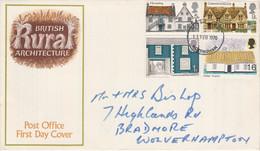 GB LETTRE FDC 1970 ARCHITECTURE - 1952-1971 Dezimalausgaben (Vorläufer)