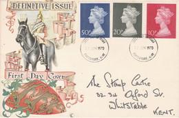 GB LETTRE FDC 1970 YPE MACHIN - 1952-1971 Dezimalausgaben (Vorläufer)