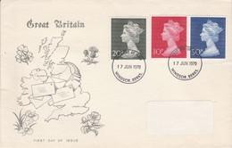GB LETTRE FDC 1967 TYPE MACHIN - 1952-1971 Dezimalausgaben (Vorläufer)