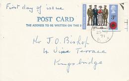 GB CARTE FDC 1971 BRITISH LEGION - 1952-1971 Dezimalausgaben (Vorläufer)