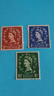 GRANDE-BRETAGNE - Kingdom Of Great Britain - 3 Timbres 1952 : Portrait De La Reine Elizabeth II - Used Stamps