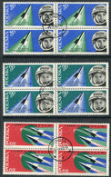 POLAND 1963 Vostok 5 Space Flight Blocks Of 4 Used.   Michel 1415-17 - Used Stamps