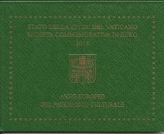 Vaticano 2 Euro 2018, Anno Europeo Del Patrimonio Culturale F.D.C. Vatikan - Vatikan