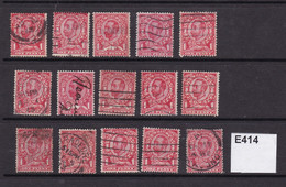 Great Britain 1911 Small Accumulation Of 1d Downey Heads - Used Stamps
