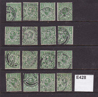 Great Britain 1911 Small Accumulation Of ½d Downey Heads - Used Stamps