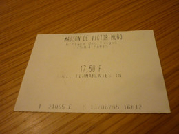 Maison Victor Hugo Museum France French Ticket - Tickets - Vouchers