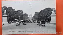 CPA (75). Paris. L' Avenue Des Champs Elysées Et Les Chevaux De Marty. Correspondance Bon Marché.(AC.423) - Other