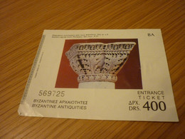 Byzantine Antiquities Marble Capital From Phiippoi-5th Cent AD Museum Admission Greek Ticket - Tickets - Vouchers