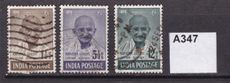 India 1948 1st Anniverary Of Independence 3 Values To 12a - Oblitérés