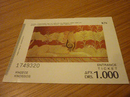 Knossos Crete Museum Admission Greek Ticket (Griffin-fresco Or The Throne Room) - Tickets - Vouchers