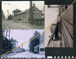 3 PHOTOS NEERPELT LIMBURG LIMBOURG GARE STATION REPROS - Neerpelt