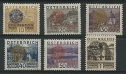 Autriche (1931) N 398A A 398F (Luxe) - Ongebruikt