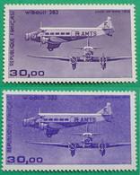 Paire N° 59 Et 59 B   Poste Aérienne  De 1986 - 1960-.... Mint/hinged