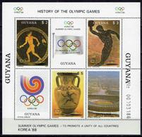 Guyana - Mi-Nr Block 20 Postfrisch / MNH ** (h378) - Zomer 1988: Seoel