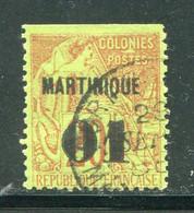 MARTINIQUE- Y&T N°3- Oblitéré (dentelure En Haut???) - Gebraucht