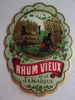 Etiquette Ancienne RHUM VIEUX DE LA  JAMAIQUE ((impr. Gougenheim) - Alcolici