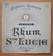 Etiquette Ancienne RHUM Ste LUCIE (impr. Gougenheim) - Alcolici