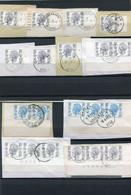 1 Lot Met Boudewijn Elstrom Zegels Op Fragment Met Plaat Nrs - Drukdata - Gestempeld - Zie Scans Voor Specialisten - Unclassified