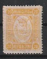 Alfonsine. 1894. Marca Municipale (marca Comunale) Diritti Di Segreteria C.20, Giallo. 22 X 28 Mm. Dent.  11 1/2 - Autres
