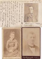CHILI. LOT DE 2 CARTES DE VISITE ET CARTE POSTALE AVEC PHOTO, CIRCULEE AN 1904. SANTIAGO DE CHILE.- LILHU - Cile