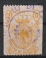 Acqualagna. 1882. Marca Municipale (marca Comunale)   C. 20, Giallo Oro . 21 X 30. Dent. 11 1/2 - Altri