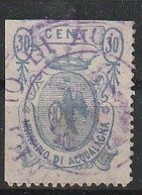 Acqualagna. 1882. Marca Municipale (marca Comunale)   C. 30.  21 X 30. Dent. 11 1/2 - Autres