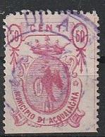 Acqualagna. 1882. Marca Municipale (marca Comunale)   C. 50.  21 X 30. Dent. 11 1/2 - Altri