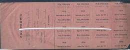 Polyphonia. Aktien Der Partner Nº.19 Des Jahres 1949. Polyphonia. Shares Partner Nº.19 Of The Year 1949. Music. Singer - Tickets - Vouchers