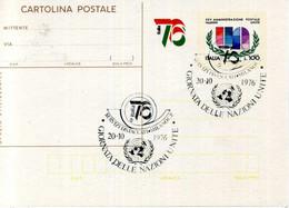 1976 Interi Postali C176 FDC AS MILANO - Interi Postali
