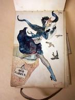 Très Belles œuvres De Gilberte Wullems, Carnet De Dessins, Aquarelle Des Années 20 - Dessins