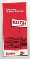 Carte Eastern United States Koch Hudson XCEL De 1973 - Carte Stradali