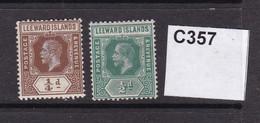 Leeward Islands 1912  ¼d And ½d (MM) - Leeward  Islands