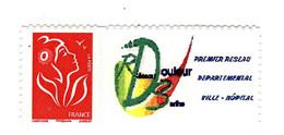 Lamouche TVP Rouge Philaposte Personnalisé Autoadhésif Grand Logo YT 3802Ab . Voir Scan. Cote YT : 11€ Maury 61  : 13 € - Personalized Stamps