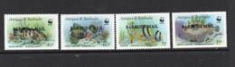 WWF  - BARBUDA - 1987 - WWF MARINE LIFE SET OF 4  MINT NEVER HINGED  SGCAT £36 - Unused Stamps
