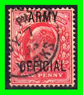 GRAN BRETAÑA -&- ( ENGLAT ) SELLO AÑO 1902 KING EDWARD VII ARMY OFICIAL - Used Stamps