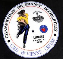 ASSIETTE Décorative - Championnat De France Doublettes - PETANQUE - LIMOGES 8-9 Juillet 1995 - C.B.D Haute Vienne - Limoges (FRA)