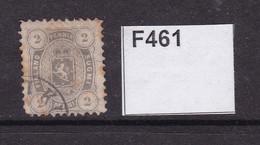 Finland 1875 20 Grey With Fox Marks - Gebraucht