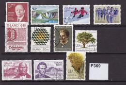 Iceland 1983-4 11 Commemorative Values - Oblitérés
