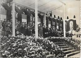 CPSM.SOUVERAINS BRITANNIQUES EN FRANCE 21/07/1938.TRIBUNE OFFICIELLE VERSAILLES. - Historia